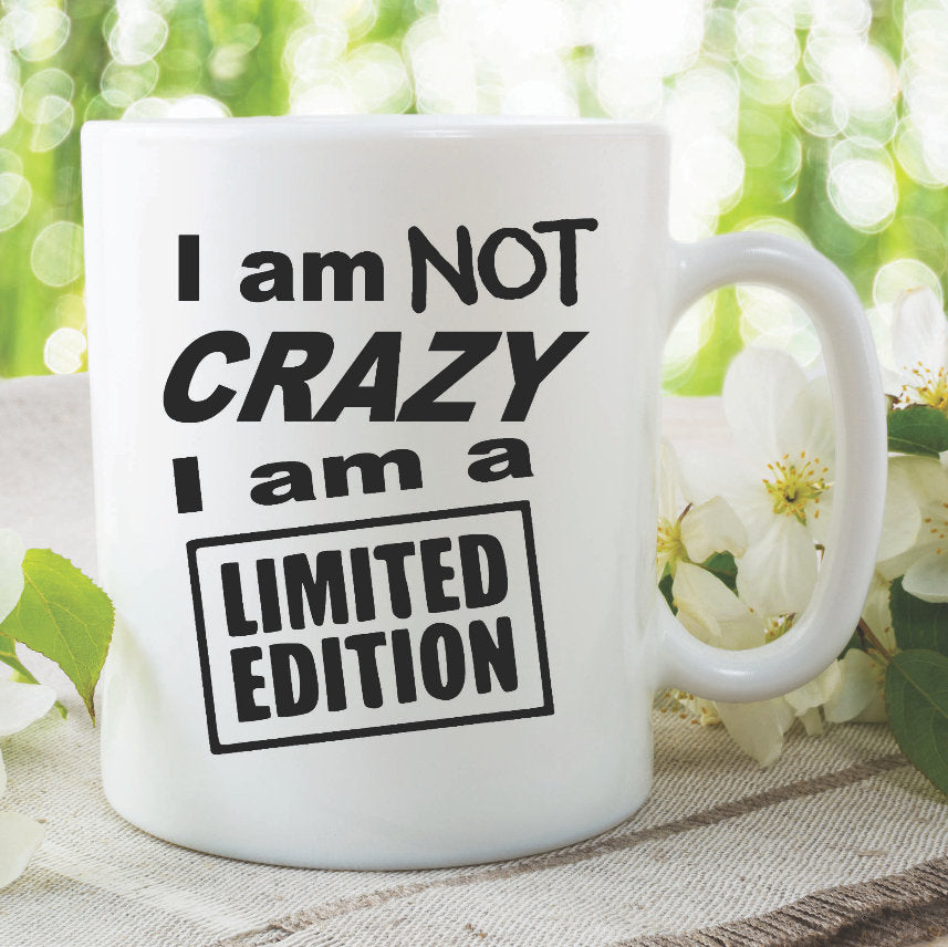 Funny Novelty Ceramic Mug Gift Present I Am Not Crazy I Am Limited Edition Humour Joke Ceramic Mug Birthday Christmas Boyfriend WSDMUG955