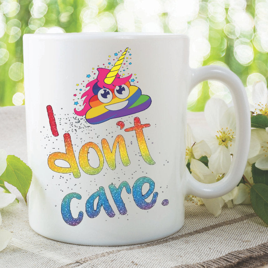 Unicorn Mug I Don't Care Best Friend Daughter Birthday Gift Present Christmas Funny Novelty Work Ceramic Printed Tea Cup Office WSDMUG990