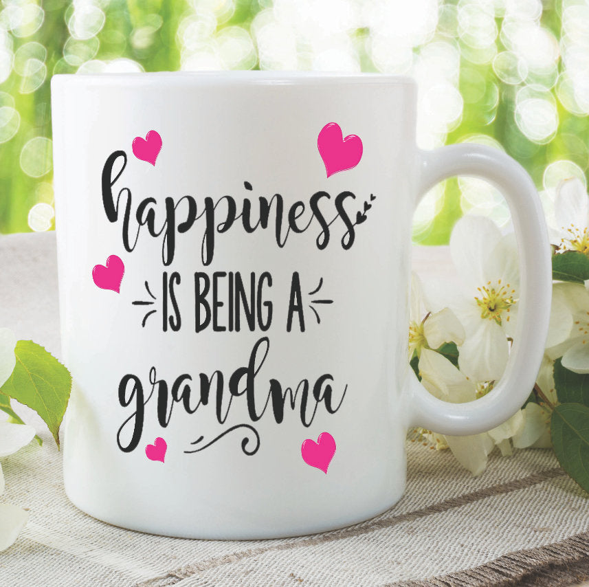 Grandma Mug Happiness Is Being A Gifts For Her Birthday Gift C Peachy Cards