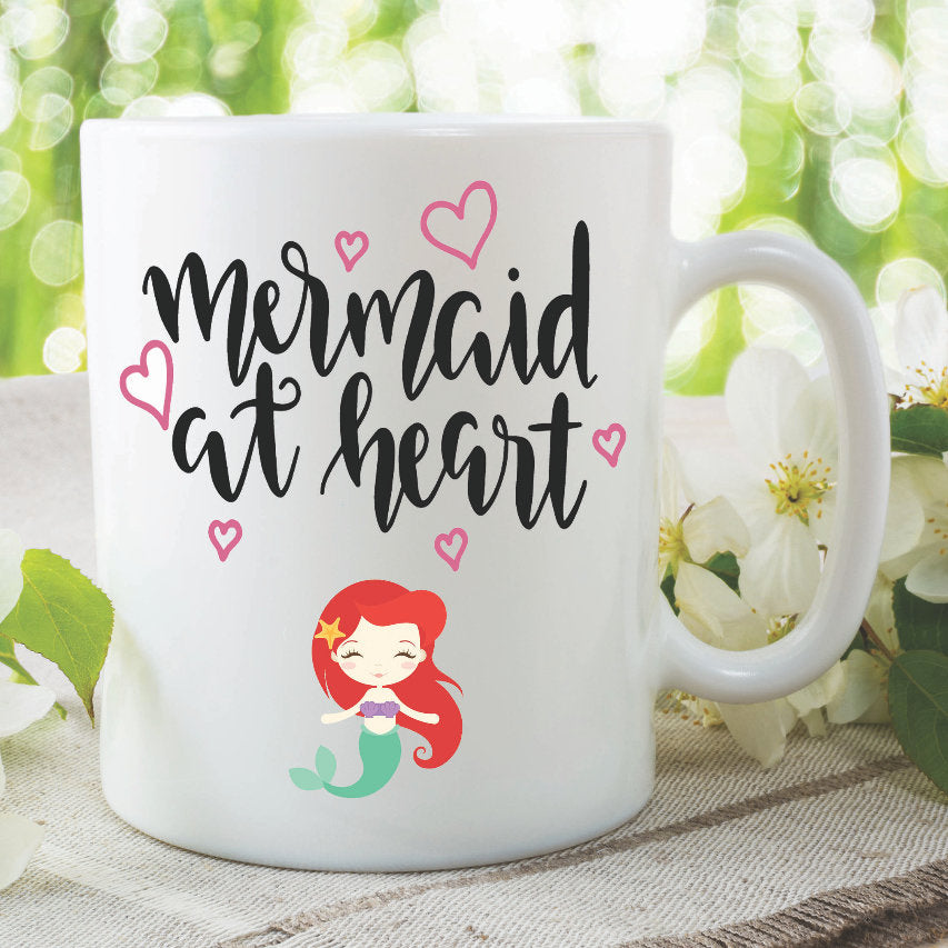 Mermaid Mugs At Heart Best Friend Daughter Birthday Gift Present Christmas Funny Novelty Cup Work