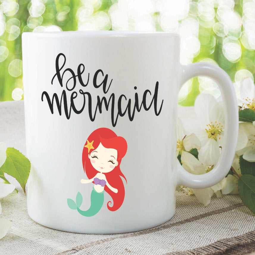 Mermaid Mug Be A Mermaid Mug Best Friend Daughter Birthday Gift Present Funny Novelty Cup Work Office Coffee Mug Secret Santa WSDMUG1015