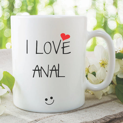 Novelty Funny Coffee Mugs I Love Anal Adult Humour Gay Best Friend Gift Birthday Christmas Present Joke Mug Tea Cup Offensive WSDMUG1076