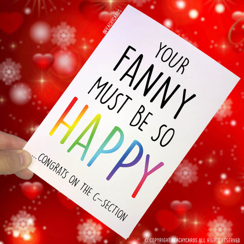 New Baby Cards Congratulations Card Thoughts With Your Vagina Funny Girl