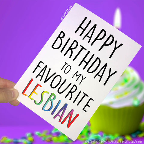 Happy Birthday Cards For Lesbian Gay Friend Card Best Favourite