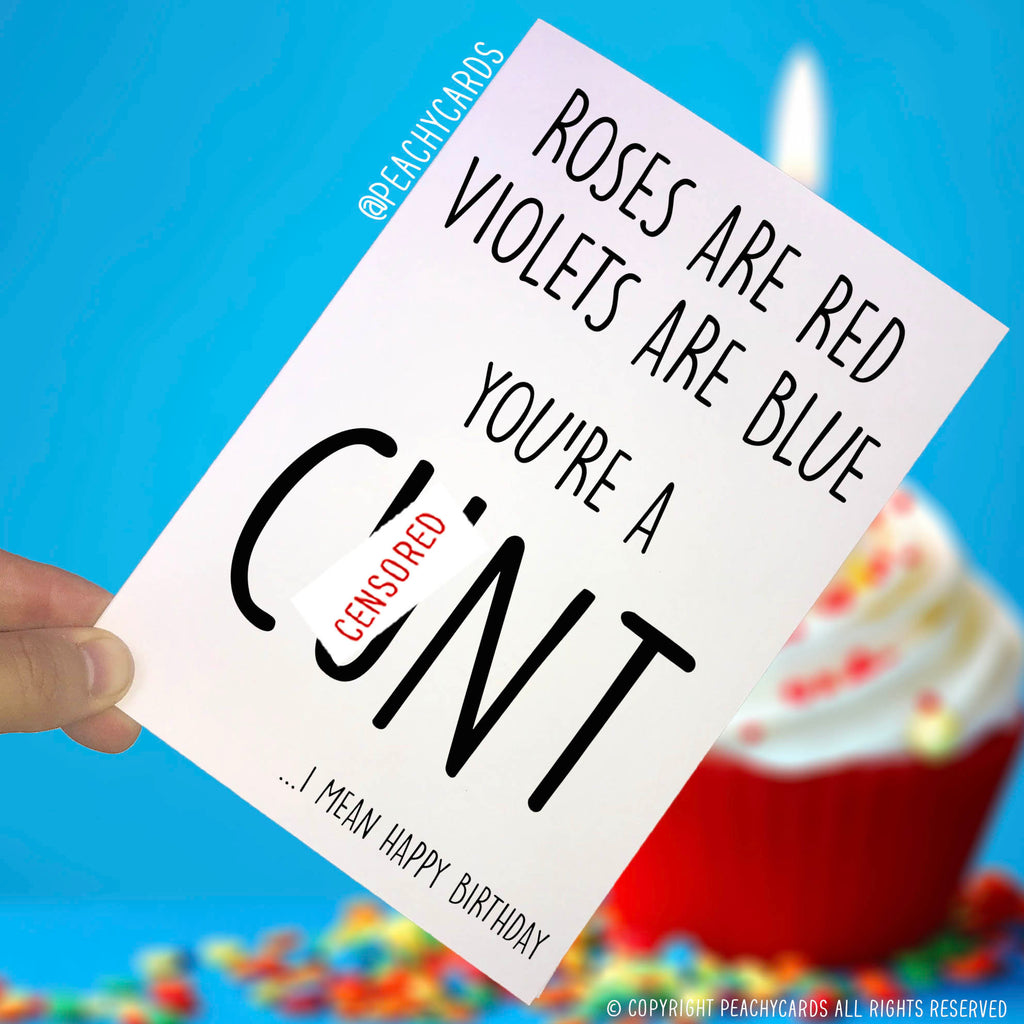 Funny Birthday Cards Swearing Cards Cnt Greeting Cards Rude Offensive Adult Humour Novelty Mature Birthday Cards Jokes Happy Birthday PC338