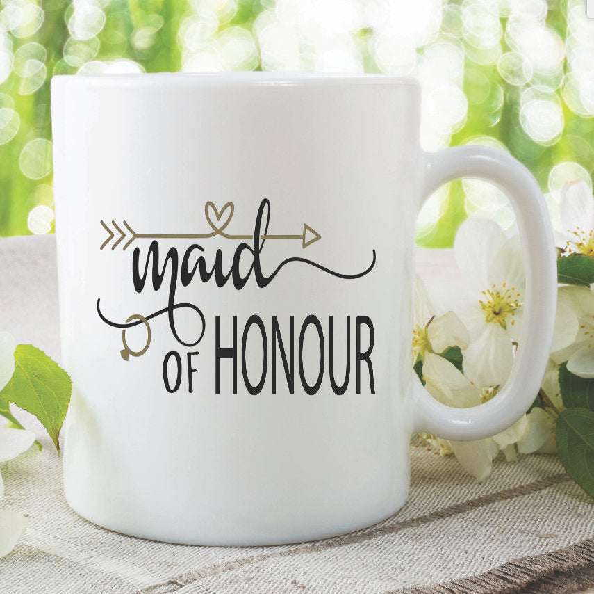 Maid Of Honour Mug Bachelorette Party Hen Do Gifts Best Friends Bride To Be Party Engagement Novelty Photo Props Wedding Marriage WSDMUG969