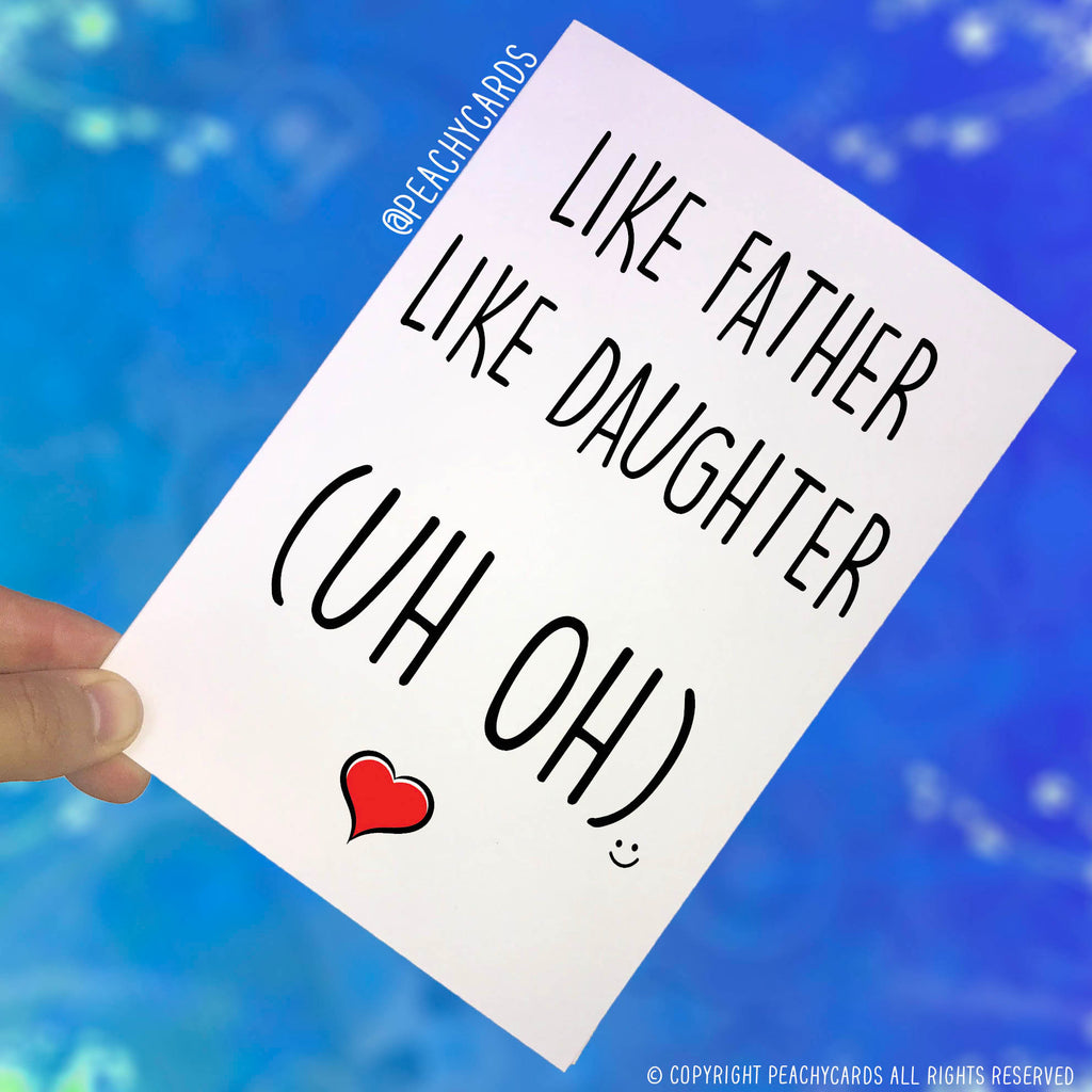 Funny Fathers Day Card For Dad Birthday From Daughter