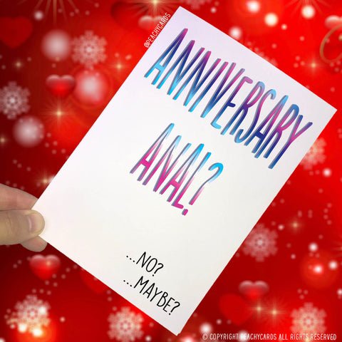 Anniversary Cards, Card For Wife, Funny Cards, Novelty Cards Rude Cards Anniversary Anal Card Celebration Card Gay Cards Boyfriend Card PC95