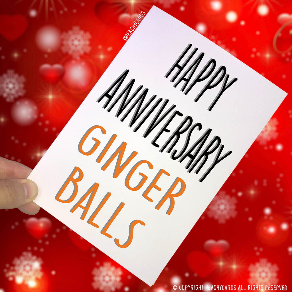 Anniversary Cards, Ginger Balls Card For Husband, Boyfriend Card Best Friend Card Funny Cards Novelty Card Rude Cards Celebration Cards PC96
