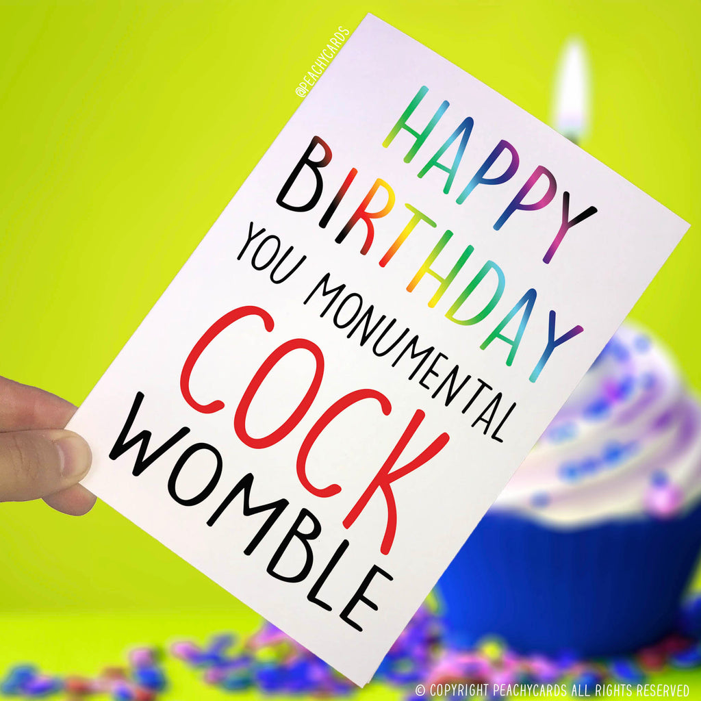 Peachy cards birthday cards and any occasion cards happy birthday cards boyfriend cards cock womble funny cards birthday cards card m4hsunfo