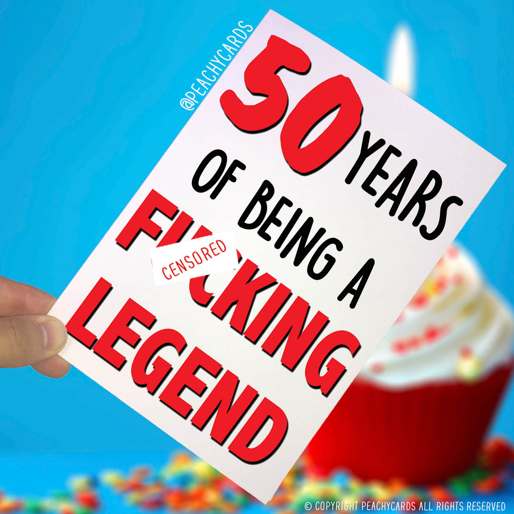 Funny Adult 40th Birthday Card 40 Years Of Being A Fcking Legend