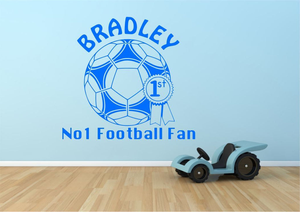Personalised Football Wall Sticker WSD537