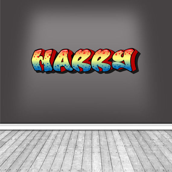 Full Colour Personalised Graffiti Wall Sticker WSD344