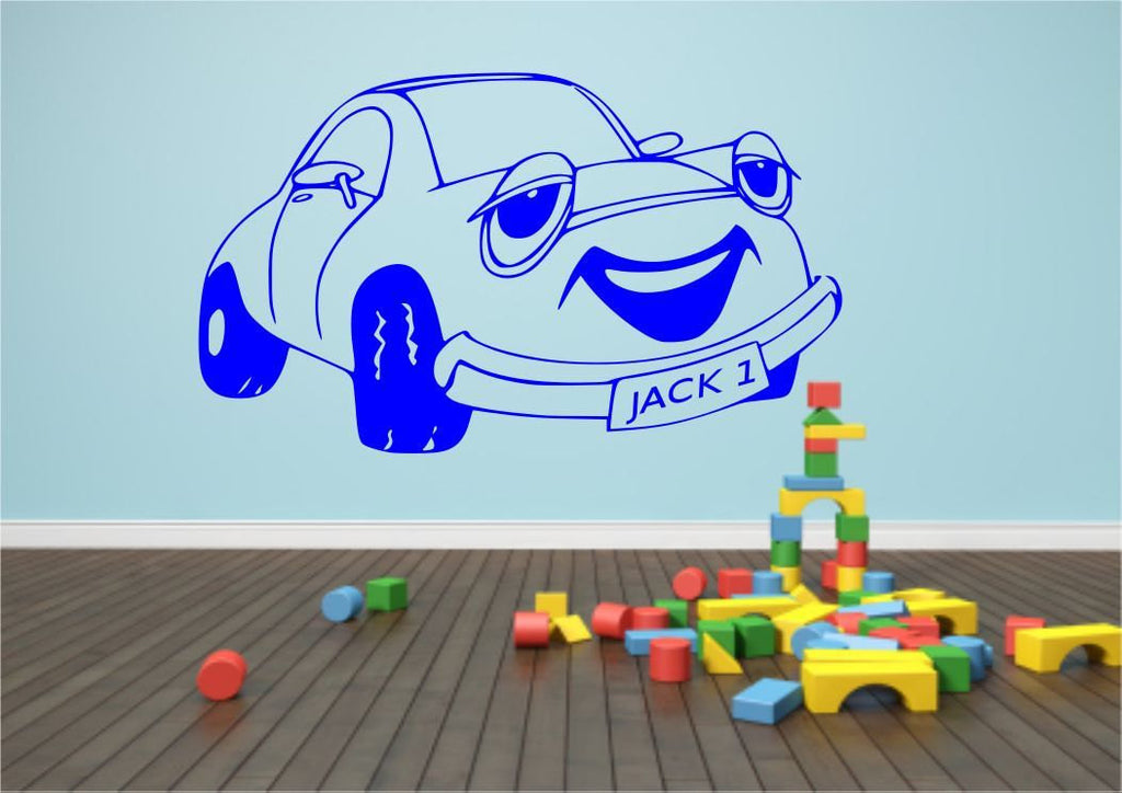 Personalised Cartoon Car Wall Sticker WSD532
