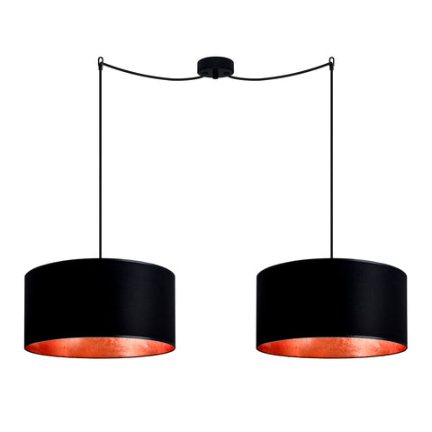 MIKA Elementary L 2/S black/copper leaves, black,black