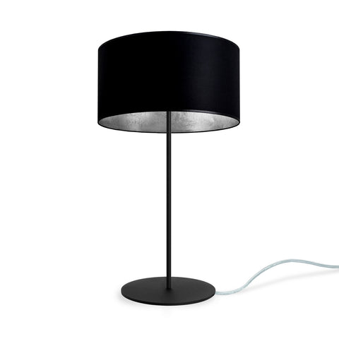 MIKA Elementary M 1/T table lamp black/silver leaves, transparent, black