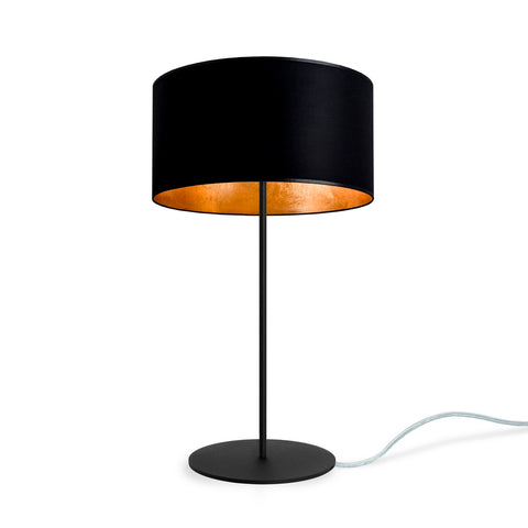 Mika Elementary M 1 T Table Lamp Black Gold Leaves Transparent Black