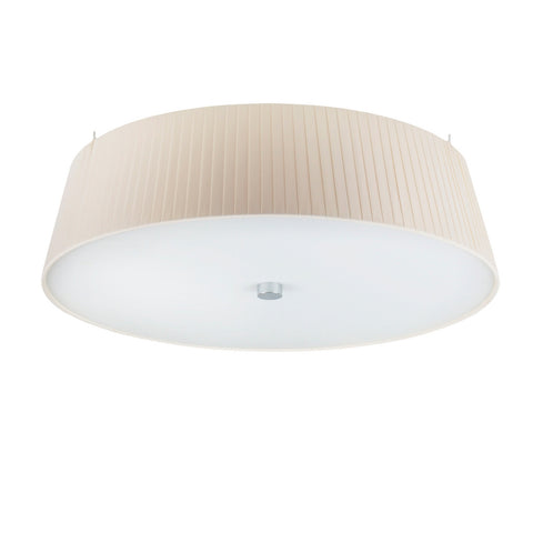 KAMI Elementary L 1/C single ceiling lamp, ecru