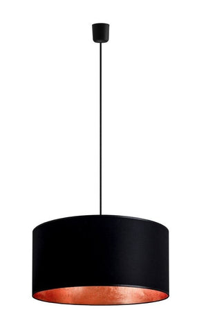 MIKA Elementary XL 1/S pendant lamp,  black/copper leaves, black,black