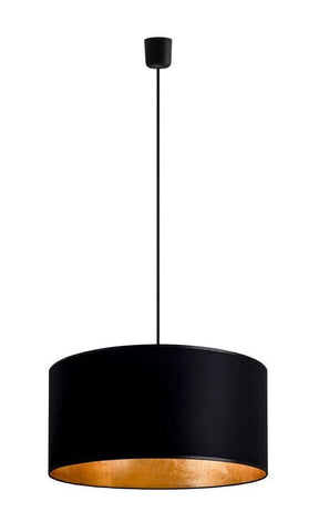 MIKA Elementary XL 1/S pendant lamp,  black/gold leaves, black,black
