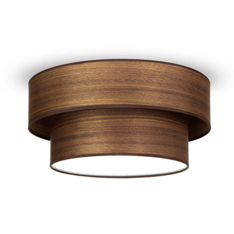 TSURI Elementary 2L 1/C double ceiling lamp, walnut