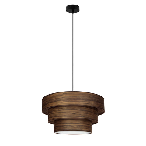 TSURI Elementary 3XL 1/S triple pendant lamp, walnut, black, black
