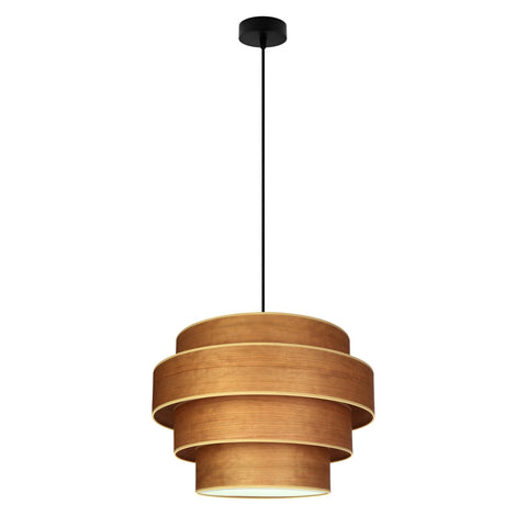 TSURI Elementary 4XL 1/S quadruple pendant lamp, cherry, black, black