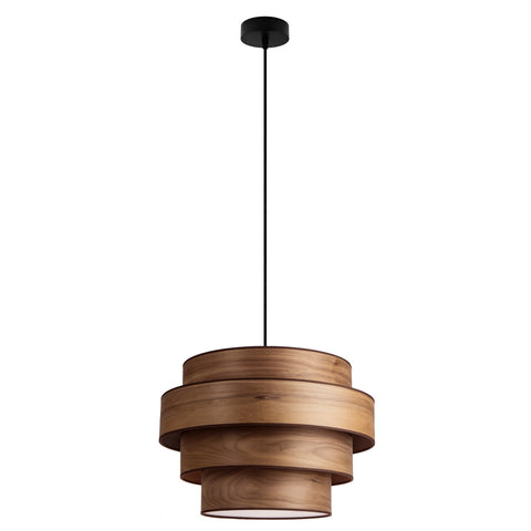 TSURI Elementary 4XL 1/S quadruple pendant lamp, walnut, black, black