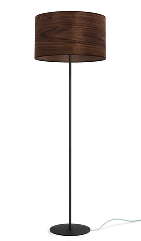 TSURI Elementary L 1/F  floor lamp,walnut, transparent, black