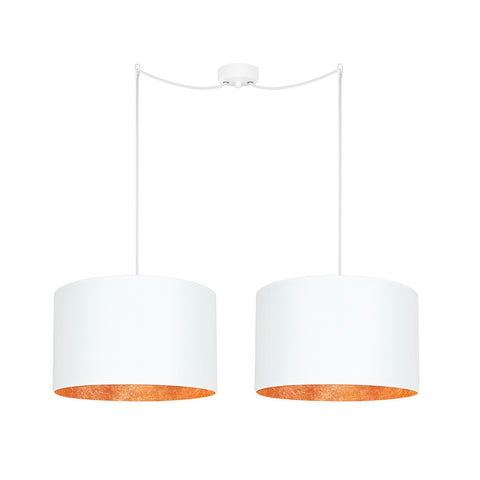 MIKA Elementary L 2/S white/copper leaves, white, white
