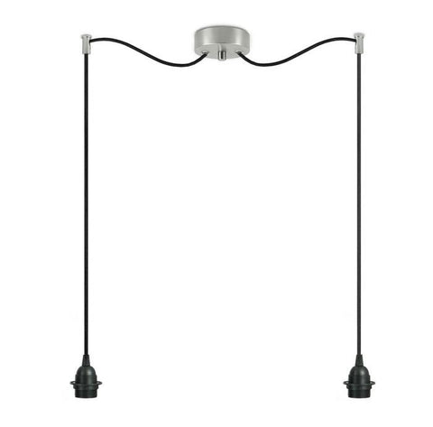 BI KAGE Decorative 2/S double pendant lamp, black, black , inox