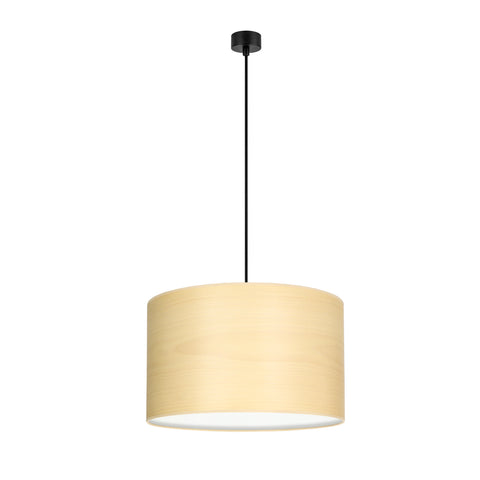 TSURI Elementary 1/S single pendant lamp, white beech, black, black