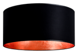 modern lamp shade of mika elementary in black/copper leaves
