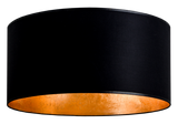 modern lamp shade of mika elementary in black/gold leaves