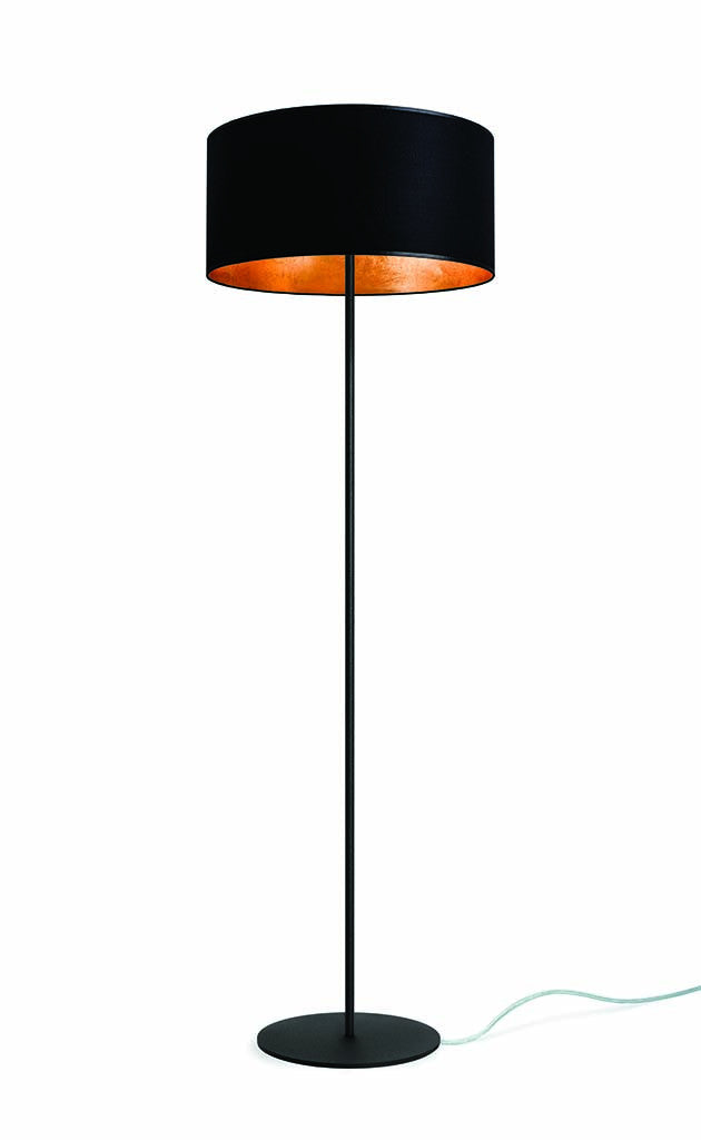 MIKA Elementary L 1/F Floor Lamp Black/gold Leaves, Transparent, Black