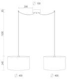 silhouette of (modern ceiling lamp fitting) Tsuri elementary 2/S