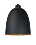 modern glass lamp shade of awa elementary in black matte/gold