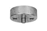 elegant steel silver leaves coated ceiling plate for sotto luce elementary lighting