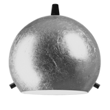modern glass lamp shade of myoo elementary in silver leaves