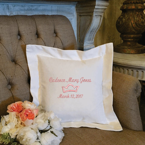 Personalized embroidered pillow gifts forever pillows 3 negle Choice Image