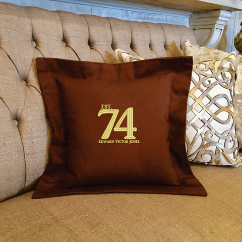 Custom Birthday Pillow Personalized Embroidered | Forever Pillows | Birthday Gifts for Men