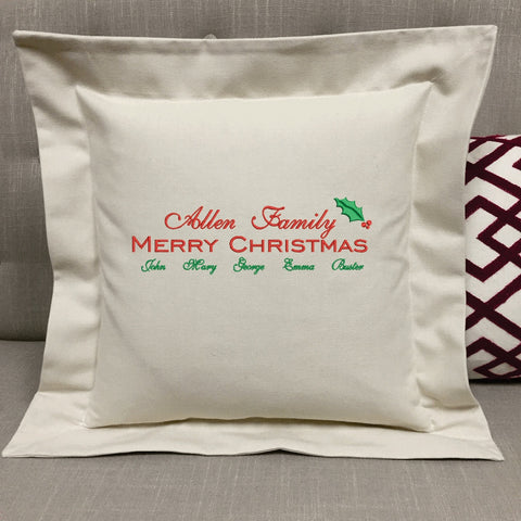 Christmas Family Pillow