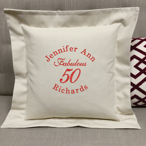 Birthday Milestone Pillow