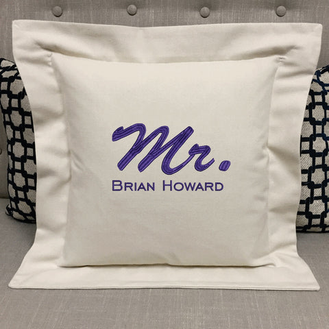 Personalized Mr. Wedding Pillow | Forever Pillows