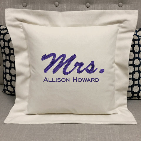 Personalized Mrs. Pillow gift | Forever Pillows