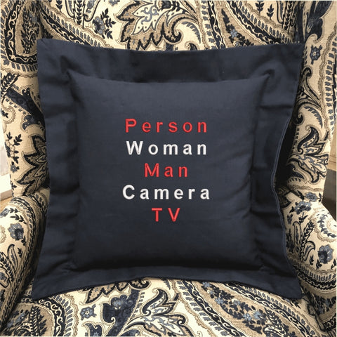 """Cognitively There"" Pillow"