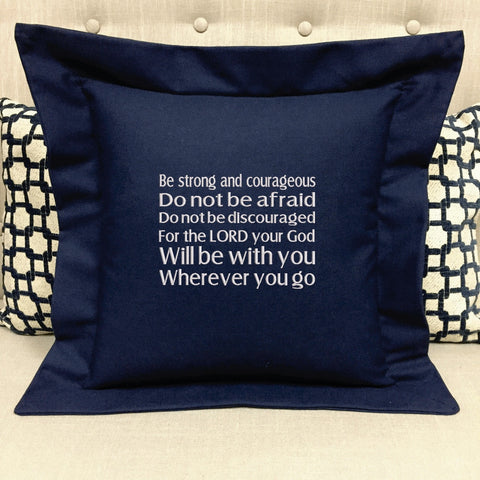 SCRIPTURE PILLOW-FOREVER PILLOWS- EMBROIDERED RELIGIOUS GIFT