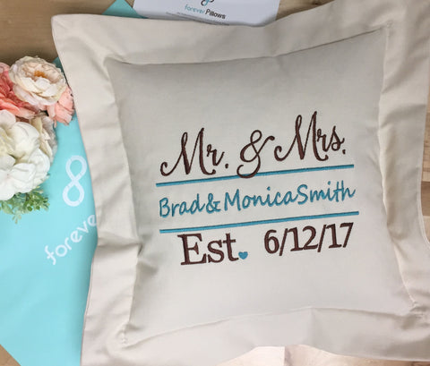 Wedding Date Romance Pillow