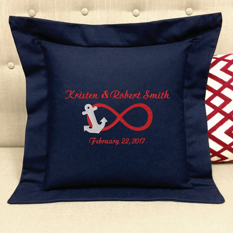 Wedding Nautical Pillow