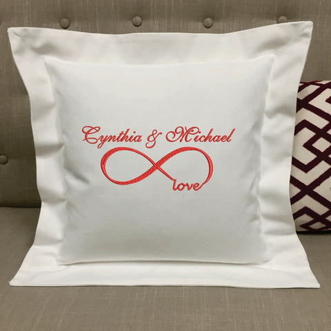Personalized Infinity Love Pillow Wedding Gifts Anniversary Gifts | Forever Pillows